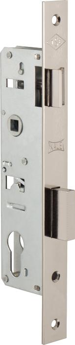 Корпус замка врезного цилиндрового узкопроф.153 (25 mm) w/b (никель)