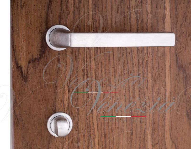 """Дверные ручки Venezia Unique """"Easy"""" (серия Slim) матовый хром"""